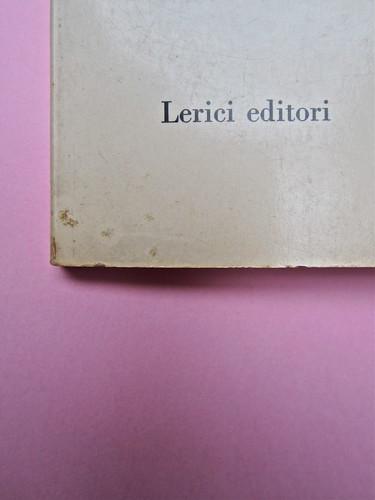 Roland Barthes, Il grado zero della scrittura. Lerici editori 1960, [progetto grafico di Ilio Negri?]. Copertina (part.), 2