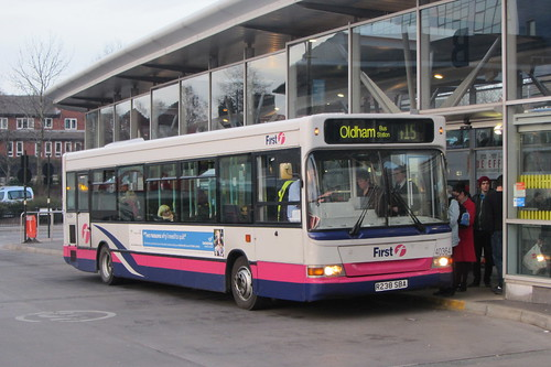 Dennis Dart SLF, First Greater Manchester R238 SBA, Oldham bus station