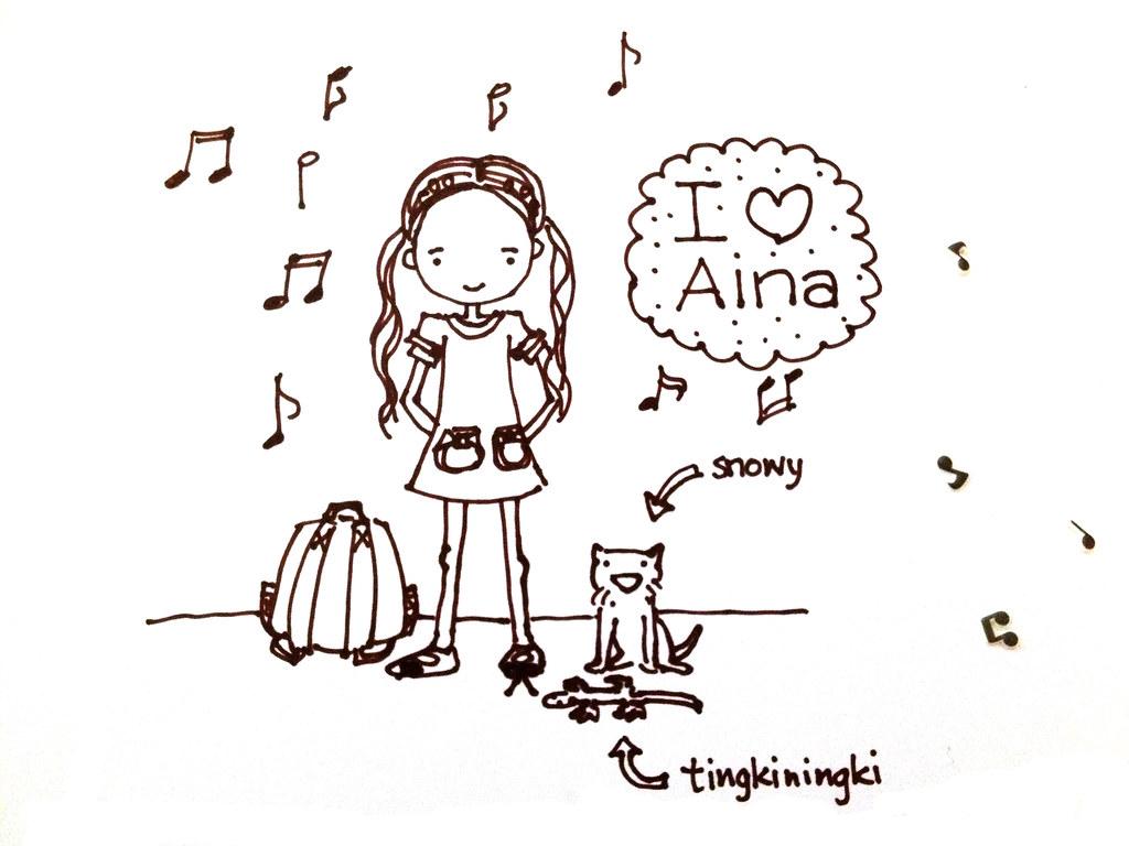 aina & ari's drawing session