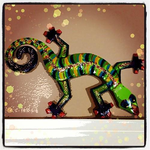 Mar 3 - 'G' {gecko; a souvenir that my daughter brought} #photoaday