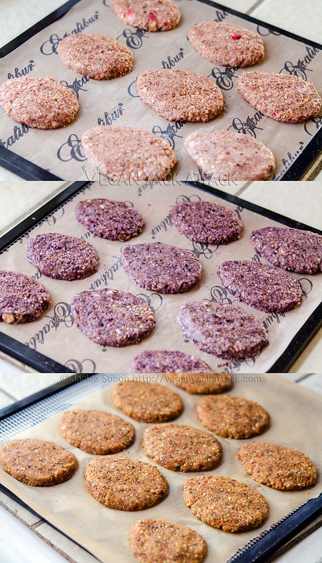 Colorful and healthy Raw Easter Cookies, these cookies have flavors like Strawberry Mint, Berry Vanilla and Carrot Cake!