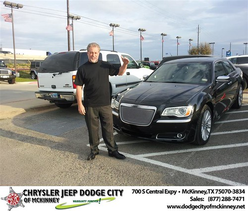 Dodge City of McKinney would like to say Congratulations to  Hanks Brokerage Inc. on the 2013 Chrysler 300 by Dodge City McKinney Texas