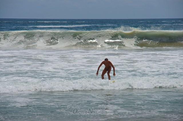 naturist surfer 0014 Zipolite, Oaxaca, Mexico