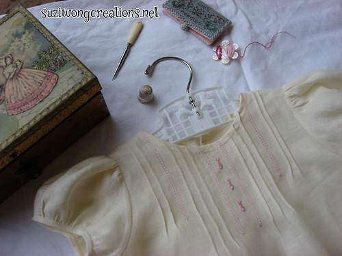 linen yellow dress - creative needle