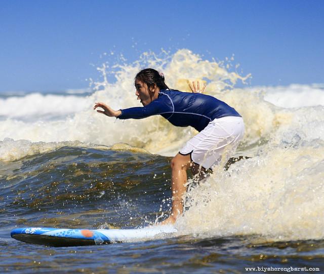 Surfing in Bagasbas Daet Camarines Norte