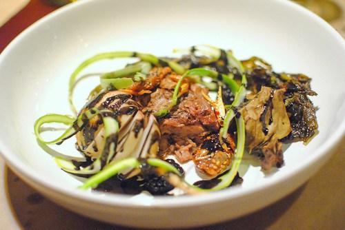 Warm Lamb Neck Terrine – Vinegar Roasted Turnips – Apricot Harissa – Gyejang
