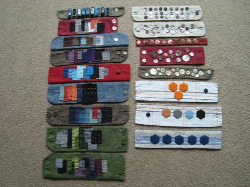 Repurposed cuff bracelets