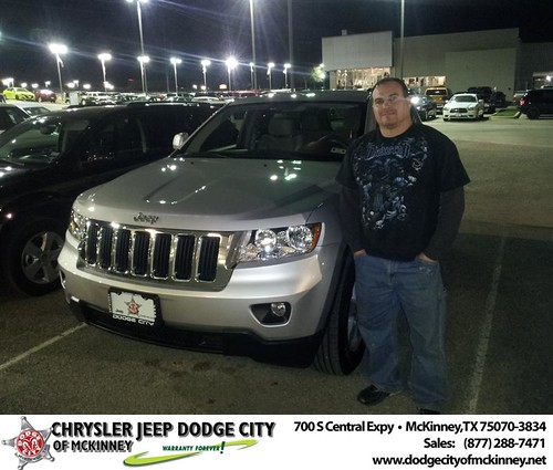 Dodge City of McKinney would like to say Congratulations to Richard Perez on the 2012 Jeep Grand Cherokee by Dodge City McKinney Texas