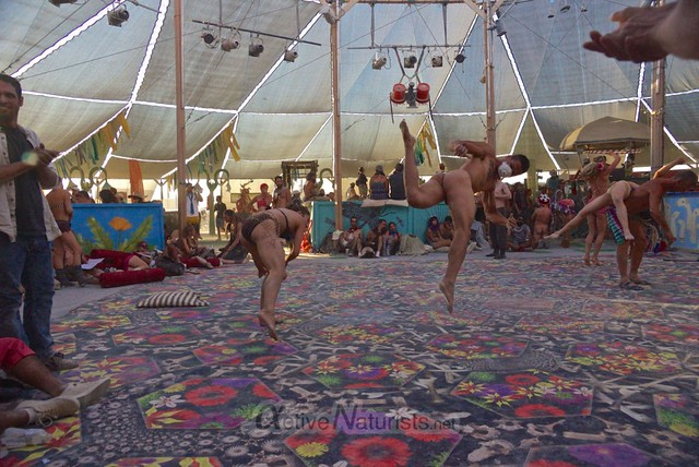 naturist capoeira 0077 Burning Man 2012, Black Rock City, NV, USA