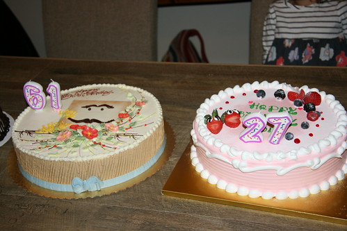 Birthday Cakes for Dad and Ma