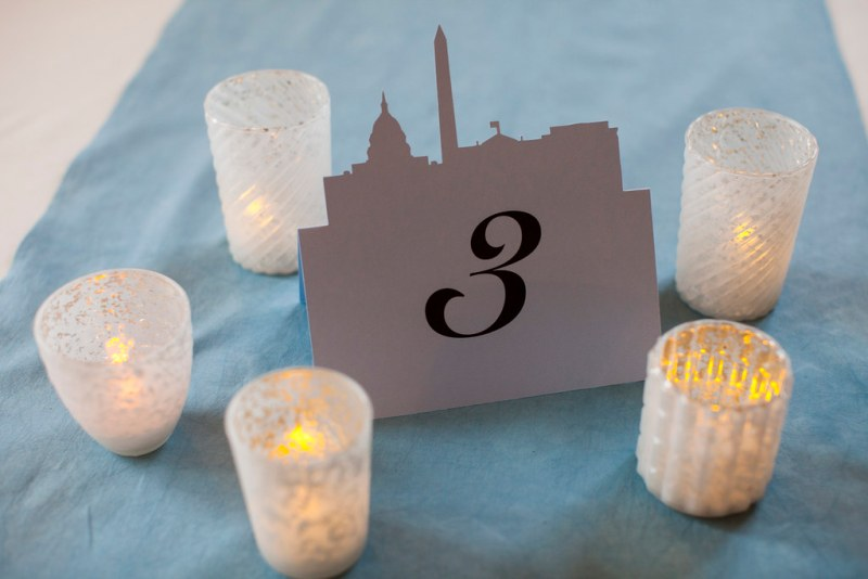 we got these great DC skyline name cards and table numbers