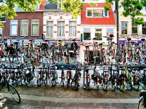 Bicycles @ Haarlem Railway Station by SpatzMe