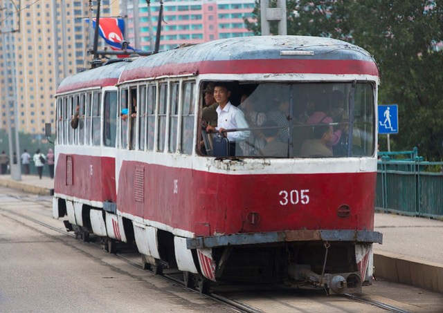 North Korean Red Tramway, Pyongyang, North Korea