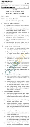 UPTU B.Tech Question Papers - F-802 - Textured Yarn Technology