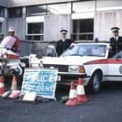 Northern Constabulary Ford Granada and motorcycle