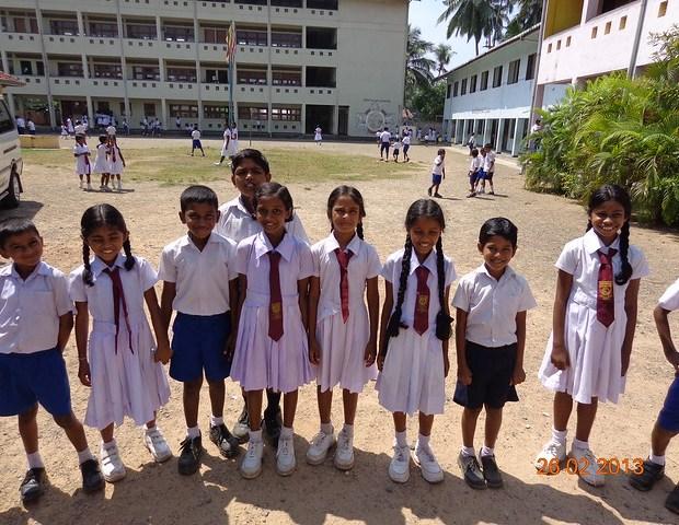 Primary school children in Sri Lanka