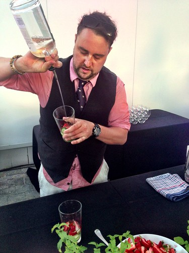 Venue manager Will Holland making our cocktails