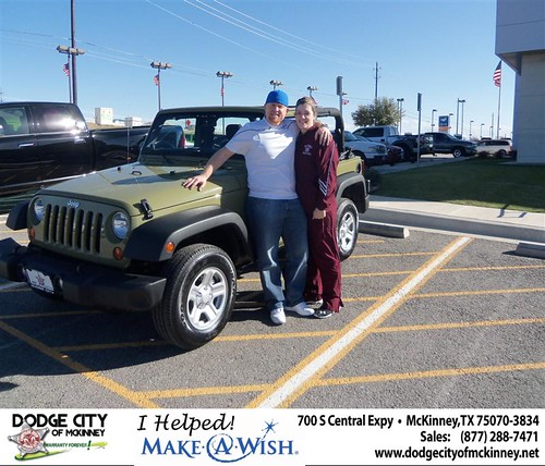 Congratulations to Jennifer Jordan on the 2013 Jeep Wrangler by Dodge City McKinney Texas
