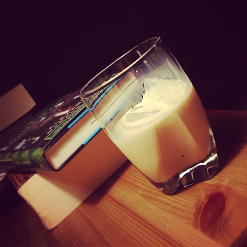 Bourbon cream on ice and lotsa books :)