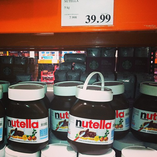 "Nothing quite says ""Happy Valentines Day"" like a 5kilo tub of #nutella unfortunately my mother did not agree lol"