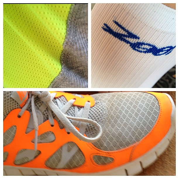 Needed an extra boost for today's speed workout. Neon clothing required.