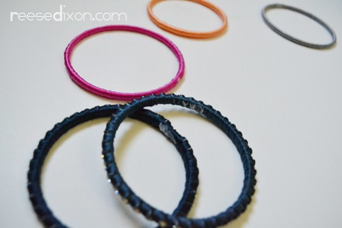 Wrapped Bracelets Tutorial Step 4