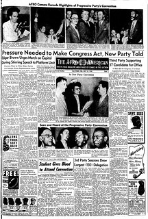 Afro Devotes Full Page to Progressive Party Convention: 1948