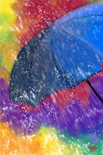 """""""Downpour"""" (#111: Project 365 Sketches)"""