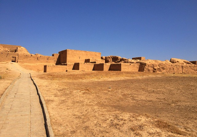 Rebuilt Sections of the Ancient Parthian city of Nisa