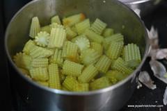 Baby corn step 6