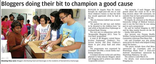 docgelo on malaysian newspaper