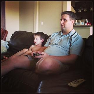 #mancrushmonday Both my boys playing video games. Love them!