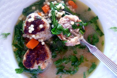 CHICKEN-SAUSAGE MEATBALL SOUP 038