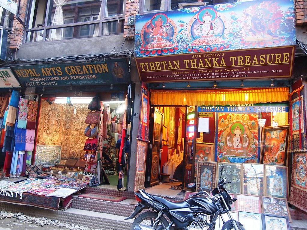 kathmandu arrival + thamel