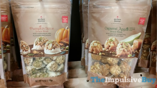 Archer Farms Limited Edition Pumpkin Spice and Caramel Apple Snack Bites