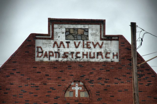 Mountain View Baptist Sign