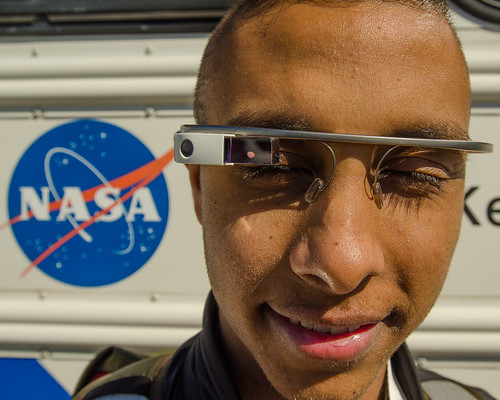 Closeup: Google glasses at #NASASocial being sported by @niket