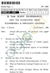 UPTU B.Tech Question Papers - PT-804 - Eco-Friendly & Specialty Coatings