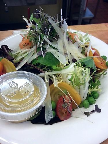 Beet and mixed green salad by pipsyq
