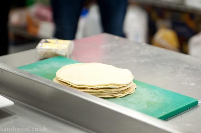 Making samosas