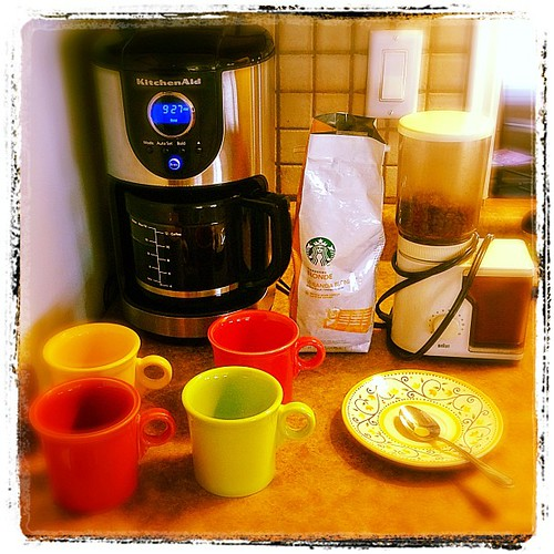 Mar 30 - 'c' {what else could it be...COFFEE!} #photoaday  #coffee #fiestaware