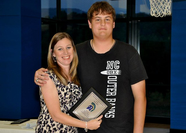 Mason Bird receiving award