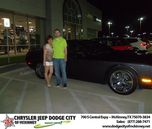 Dodge City of McKinney would like to say Congratulations to Yang Long on the 2013 Dodge Challenger by Dodge City McKinney Texas