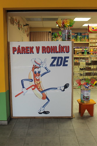 Párek v Rohlíku Zde (Hot dog here)