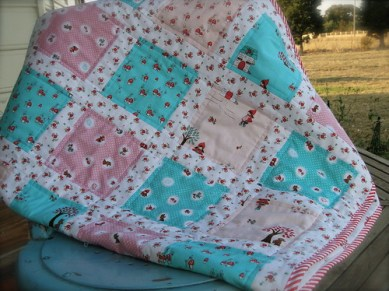 Little Red Riding Hood Baby Quilt