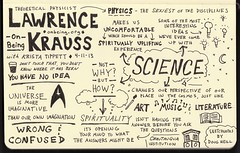 Sketchnotes of Lawrence Krauss Interview with Krista Tippett