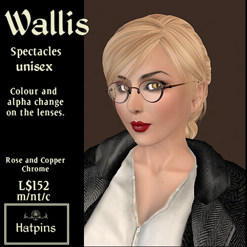 Wallis Spectacles - Rose and Copper Chrome