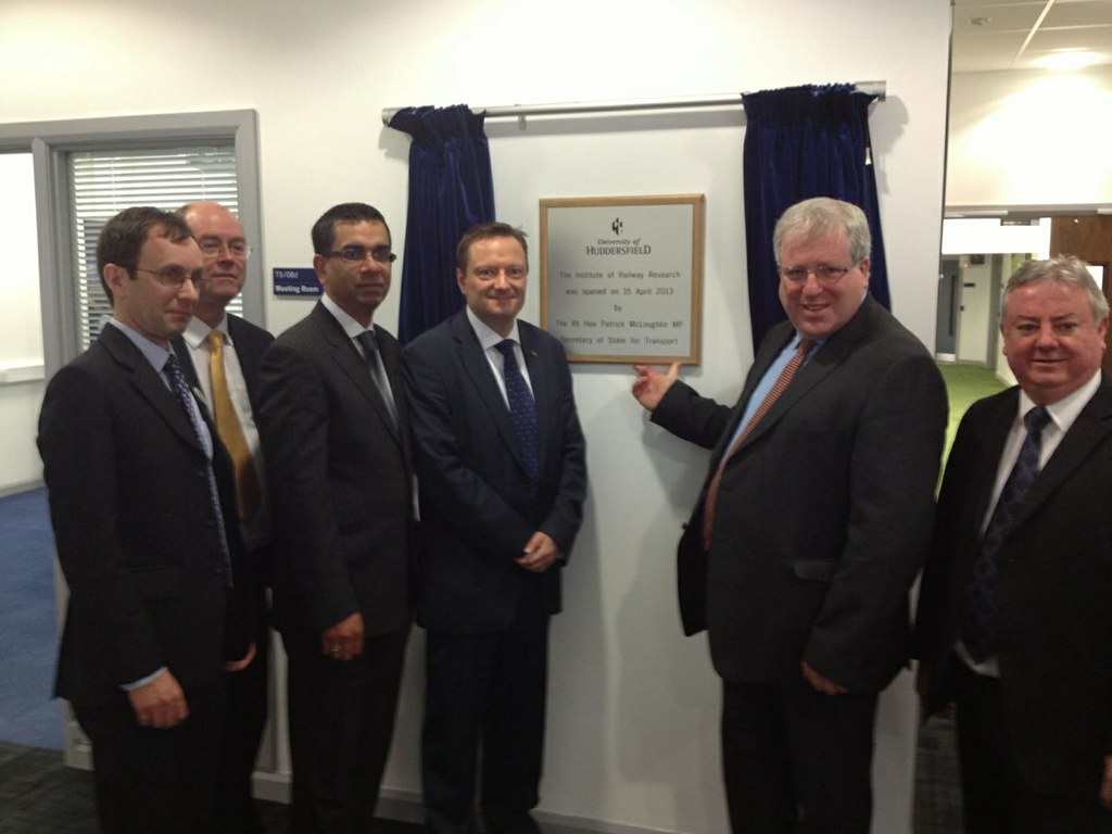 Transport Secretary Opens Huddersfield University Rail Centre