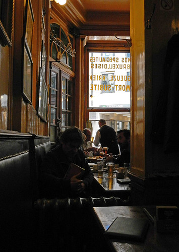 A la Mort Subite, a traditional pub in Brussels, Belgium