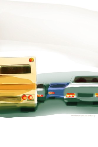"""Sunday traffic"" (#125: Project 365 Sketches)"